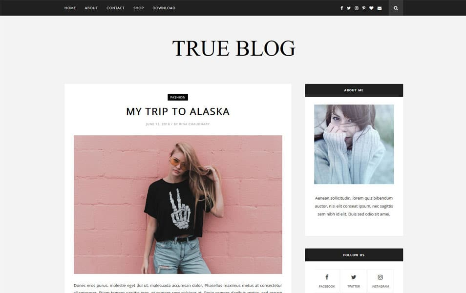 TrueBlog Responsive Blogger Template