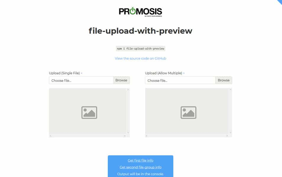 file-upload-with-preview  - JavaScript File Upload Library