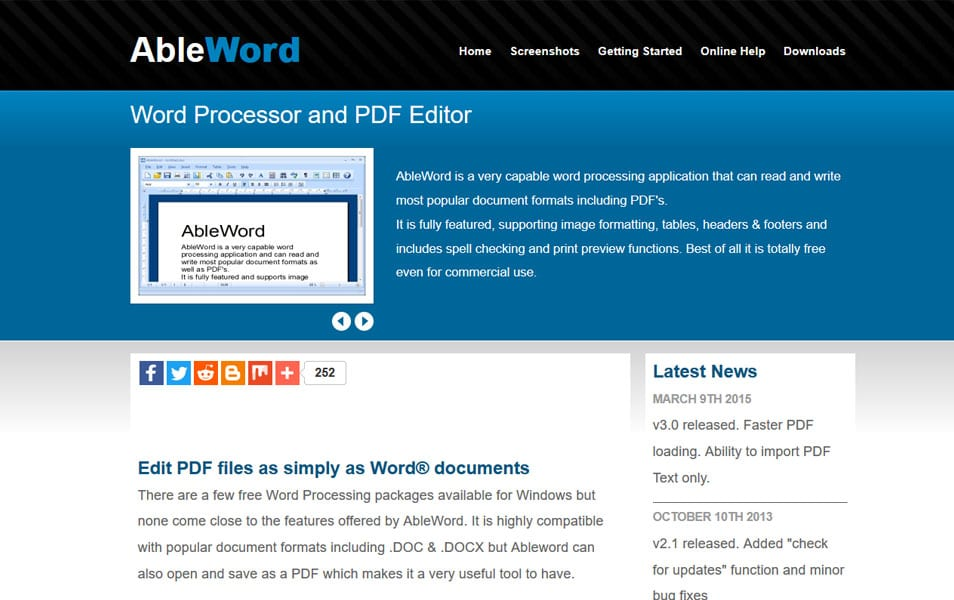 AbleWord - Word Processor and PDF Editor