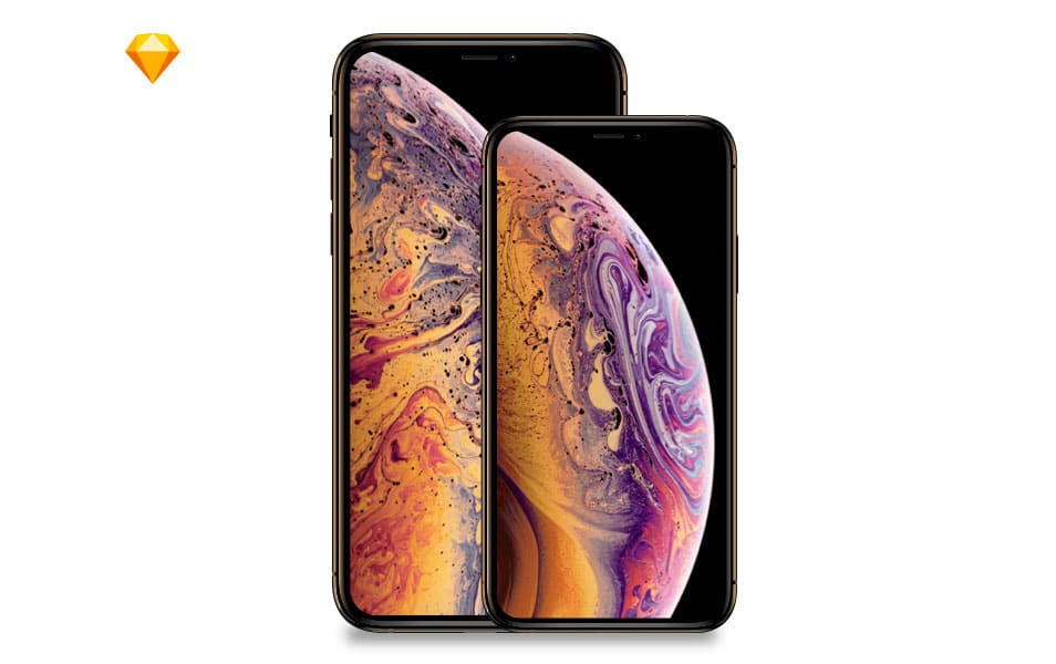 Apple iPhone Xs MockUp free Sketch