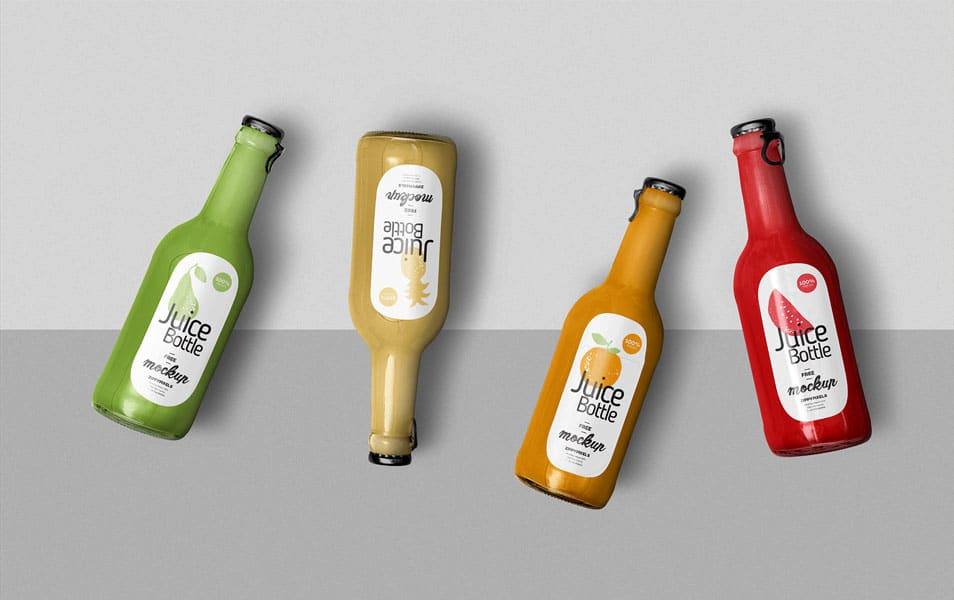 Free Awesome Juice Bottle Mockup