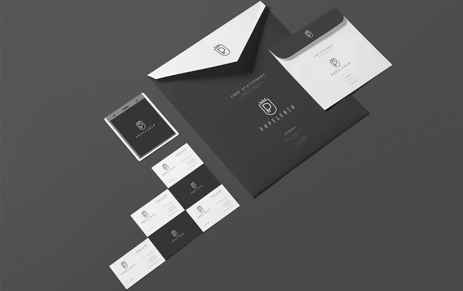 Free Beautiful Envelope Mockup PSD