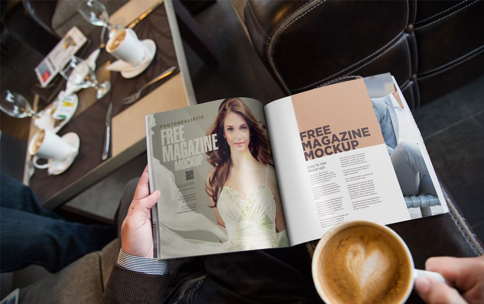 Free Photo Realistic Magazine Ad Mockup