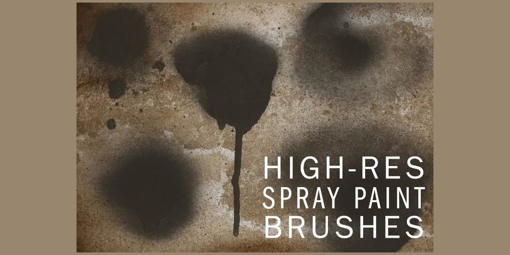 Hi-Res Spraypaint Photoshop Brushes