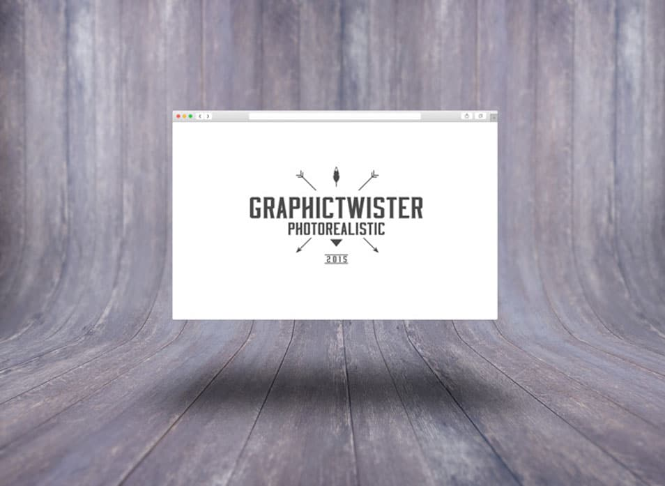Safari Browser Template On Wooden Background