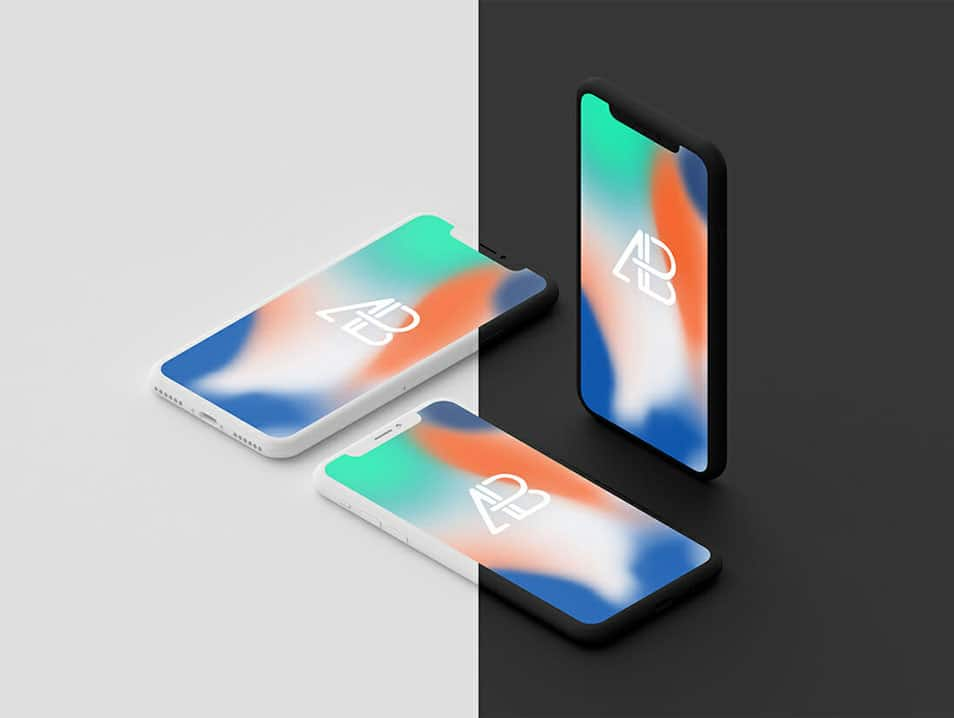 Clay iPhone X Mockup