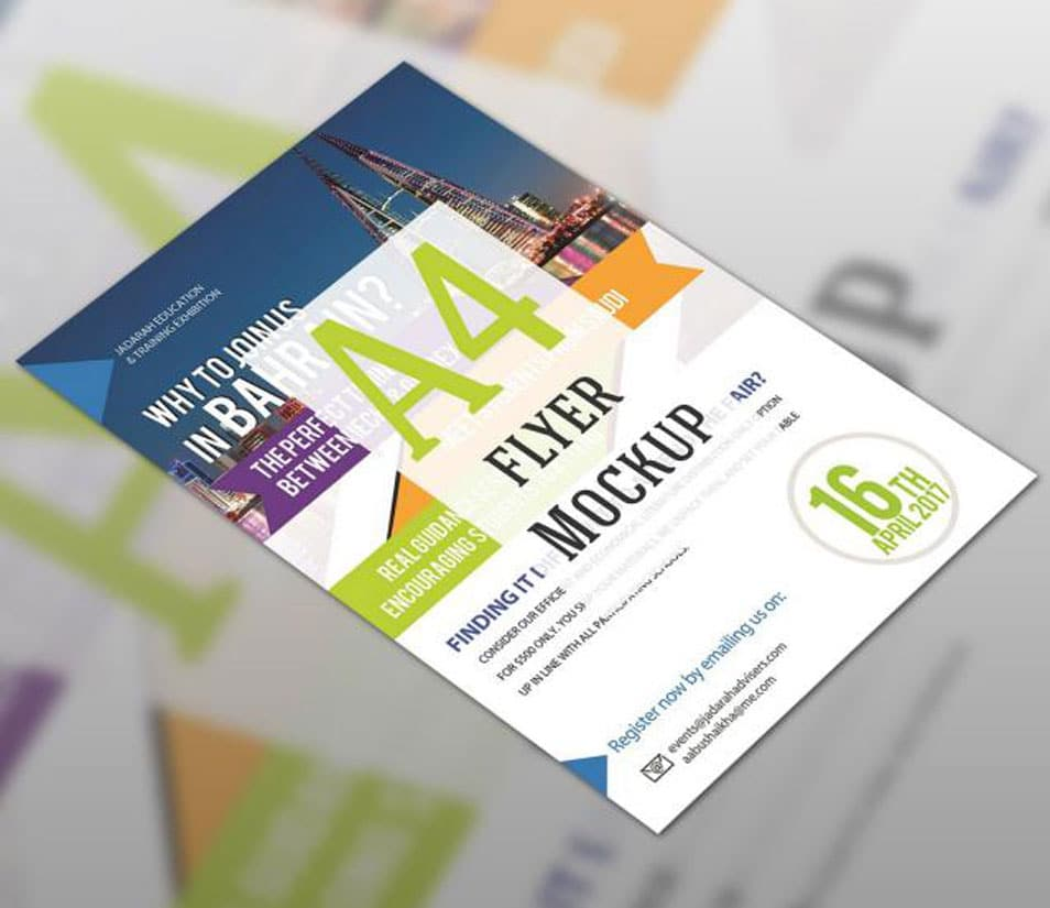 Flyer Mockup Blurred Template