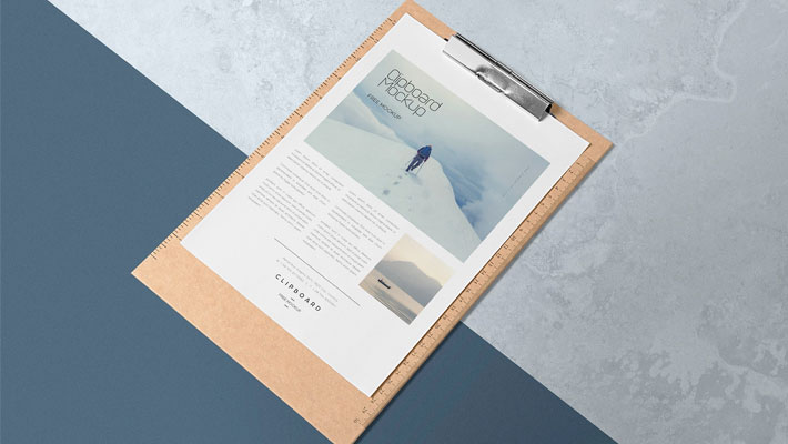 Free A4 Size Paper Mock Up