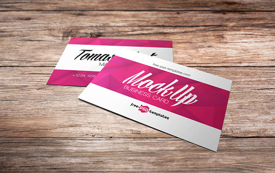 Free Business Card Mock-up in PSD