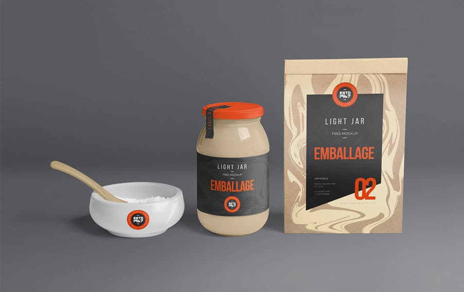 Free Packaging Jar Mockup