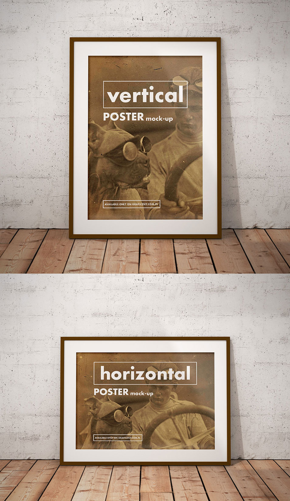 Horizontal and Vertical Poster Mockup