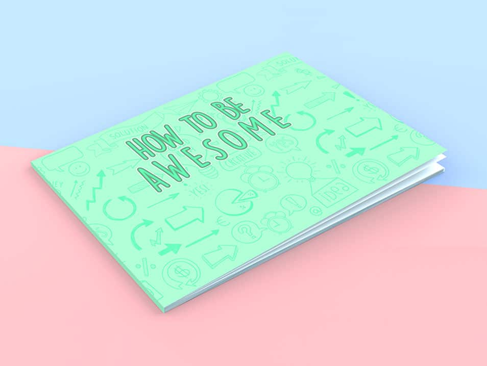 Landscape Book Cover Mockup