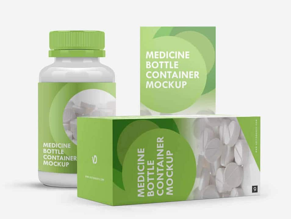 Medicine Bottle Container Mockup