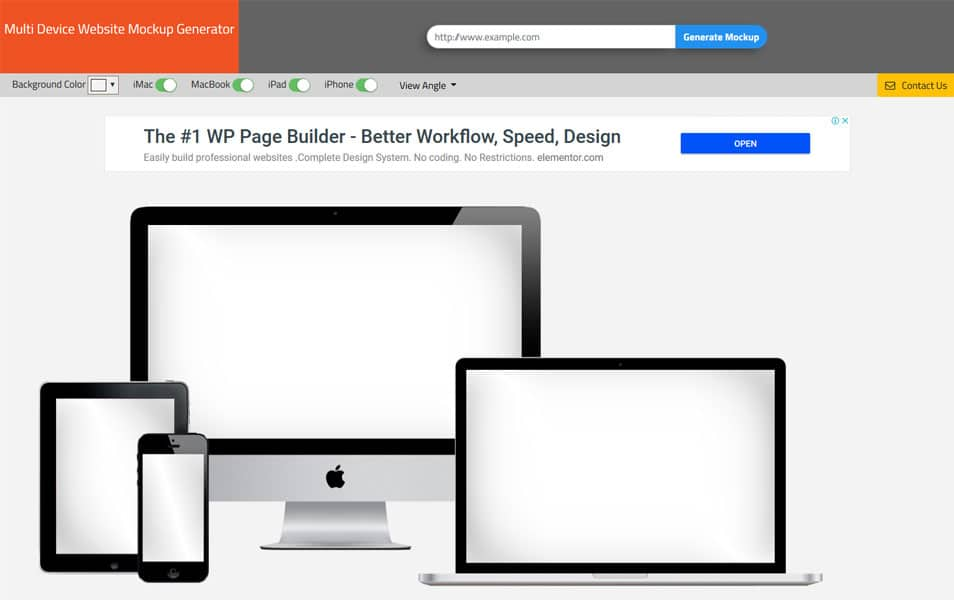 Multi Device Website Mockup Generator