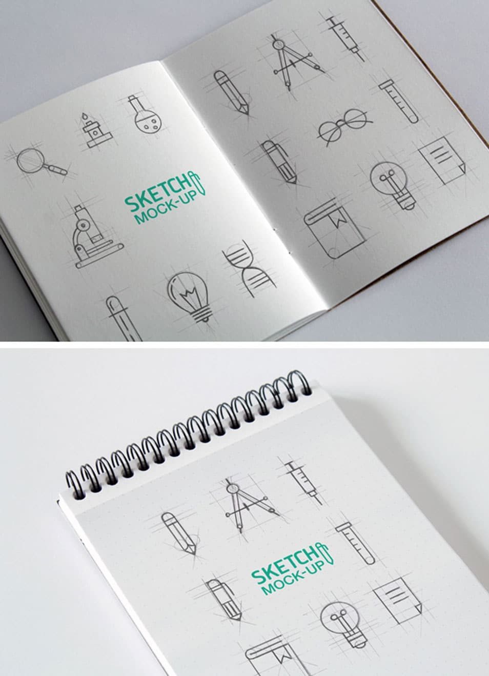 Sketchbook MockUps PSD