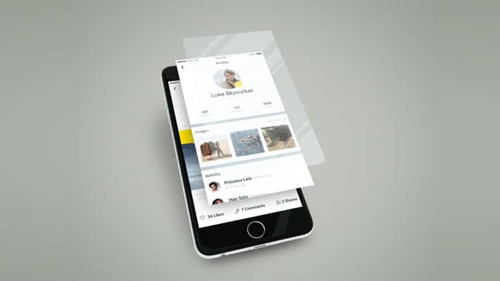 Smartphone App Multilayer Screen Mockup
