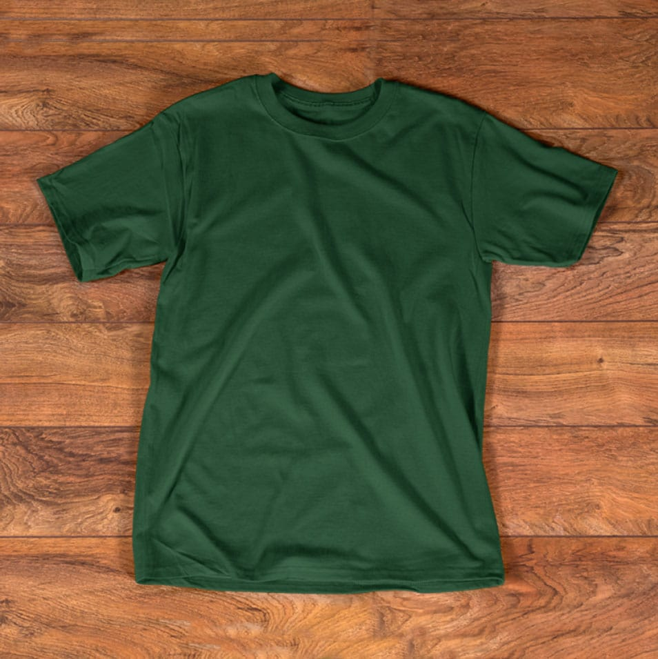 T shirt Green Mockup Template