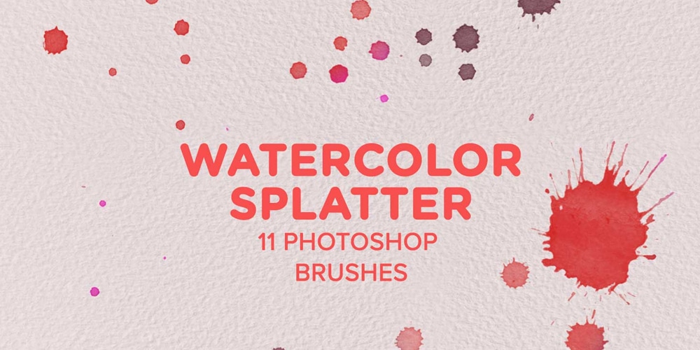 Watercolor Splatter Photoshop Brushes