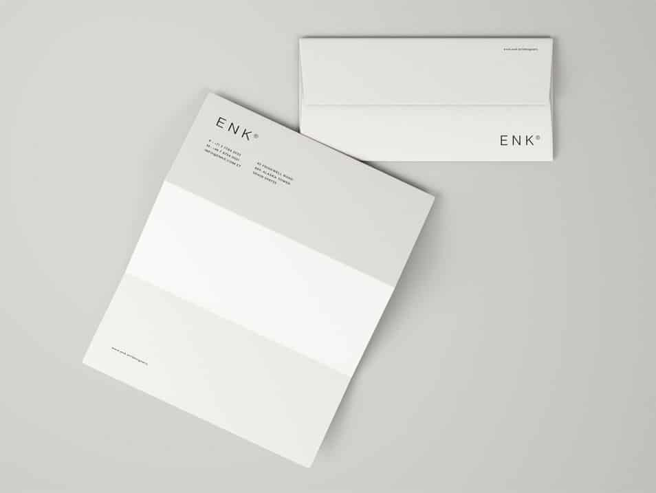 Envelope and A4 Folded Letterhead Mockup