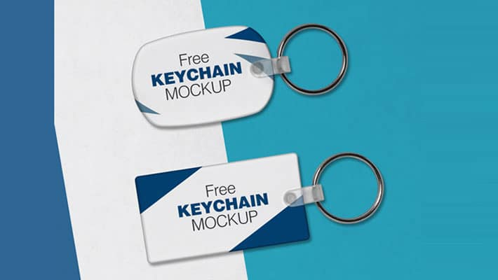 Free Keychain / Key Ring Mock-up PSD