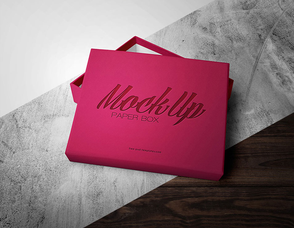 Free Paper Box Mock-up in PSD