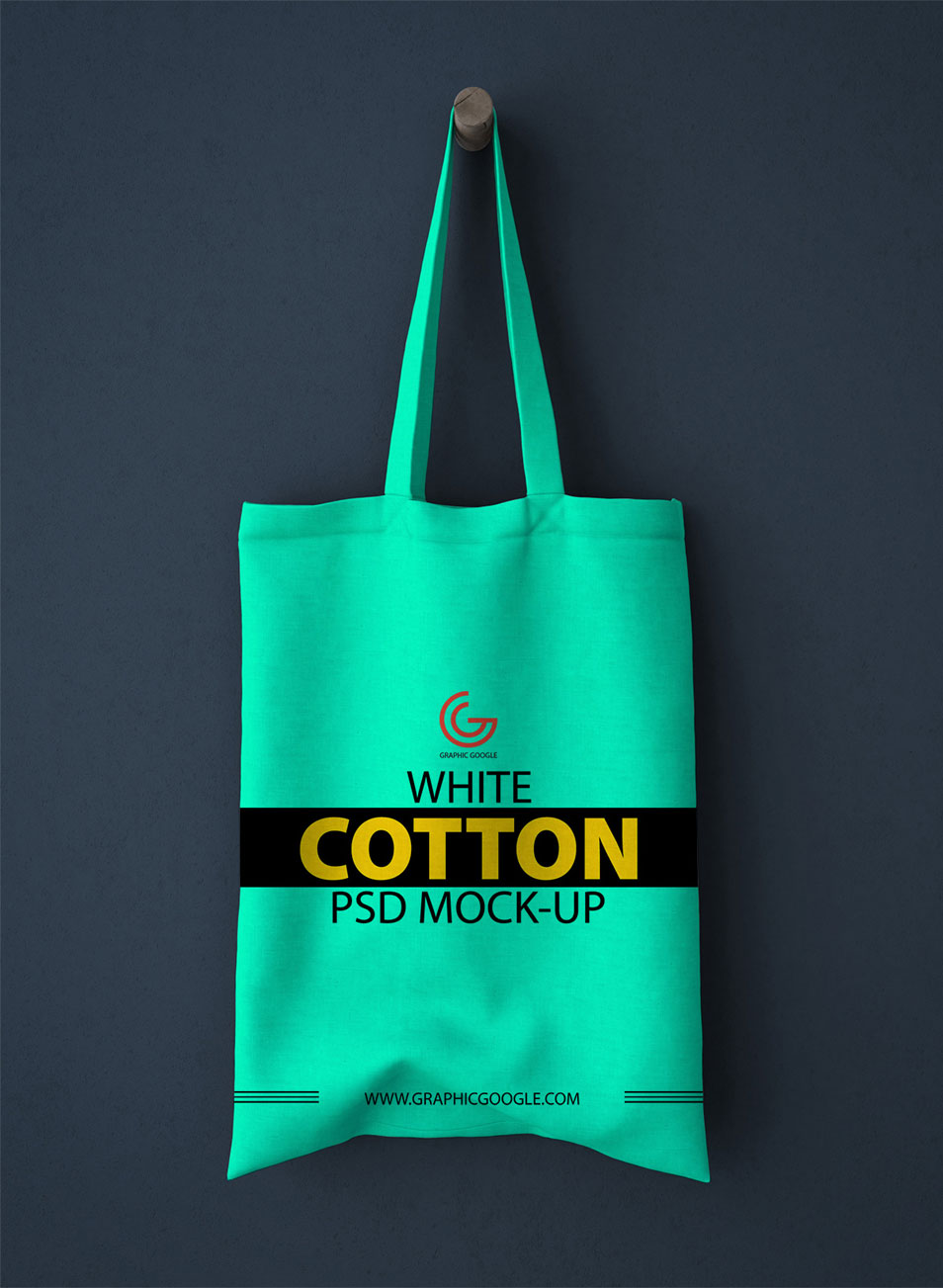 Free White Cotton Bag PSD Mock-up For Graphic Designers
