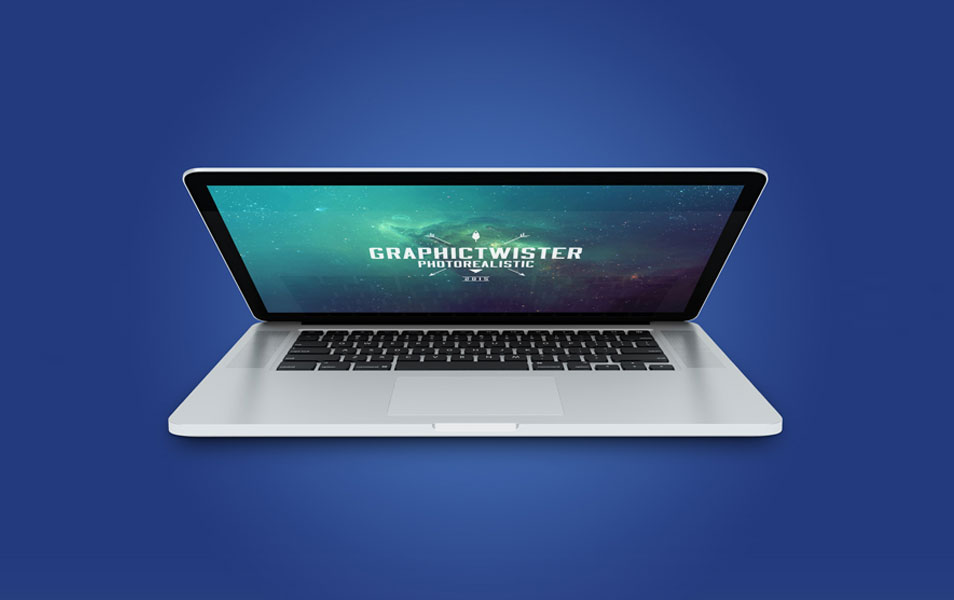 MacBook Pro Close Screen Mockup