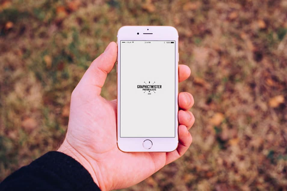 Man Hand iPhone 6 Mockup