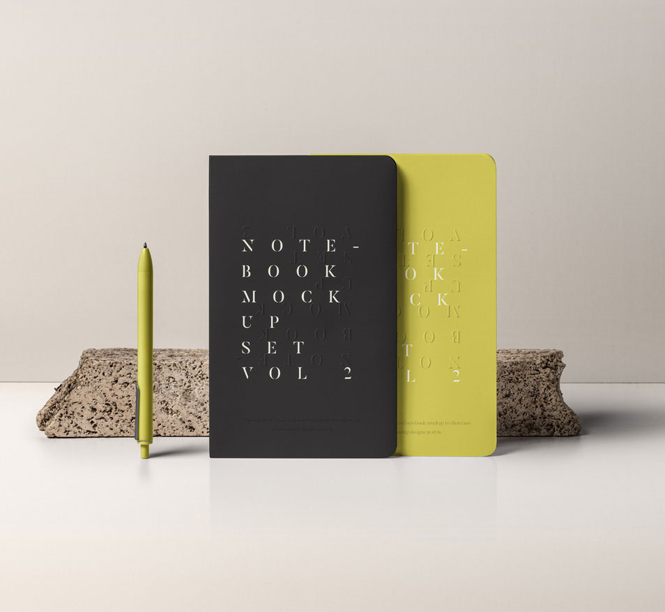 PSD Notebook Mockup Set