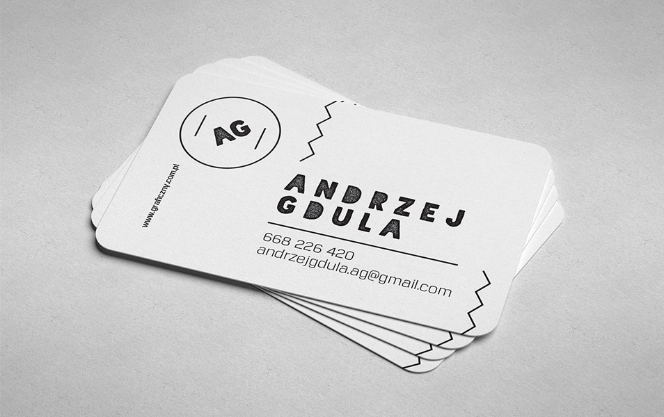 Round Corner Business Card Mockup