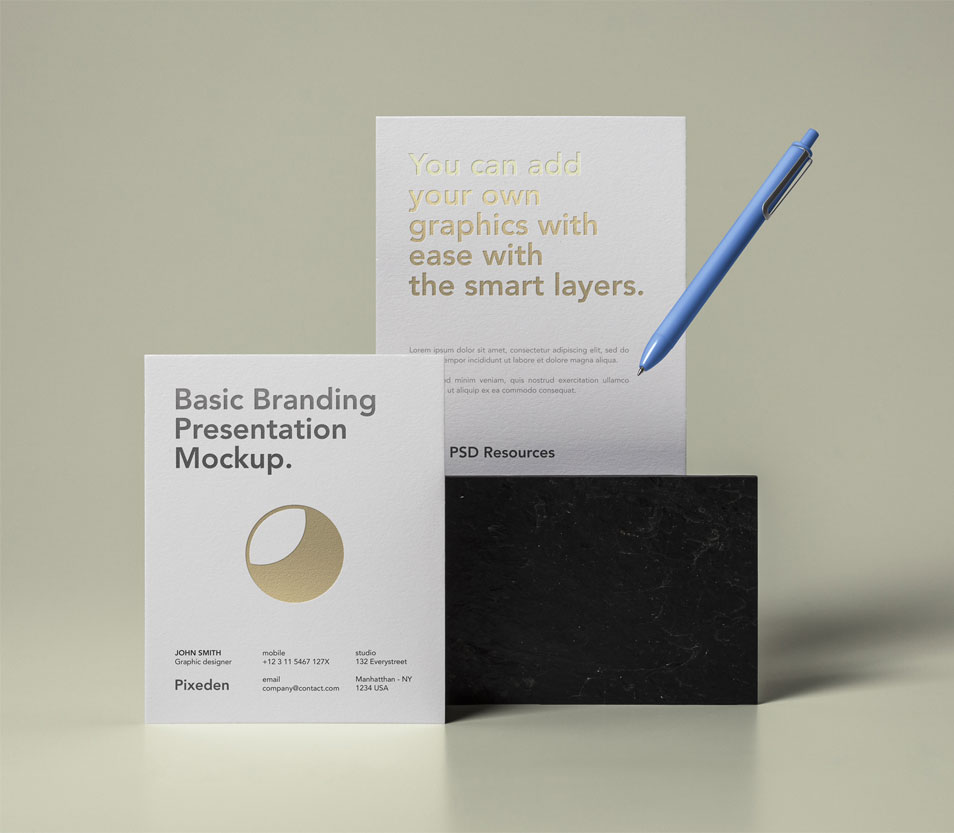 Basic Stationery Branding Mockup