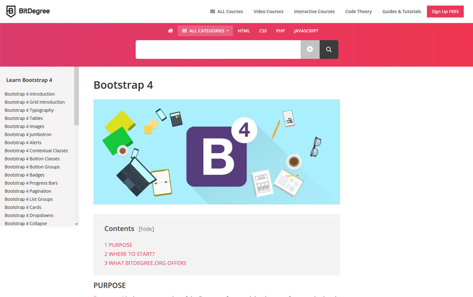 Bootstrap 4 Tutorial | BitDegree