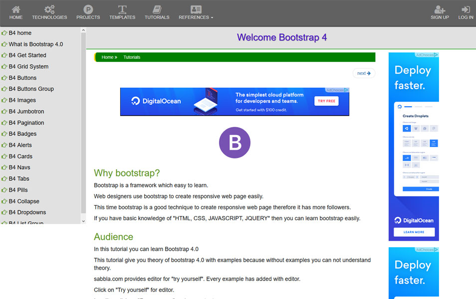 Learn Bootstrap 4 : Tutorials, Courses, Articles, Books & Cheat Sheets
