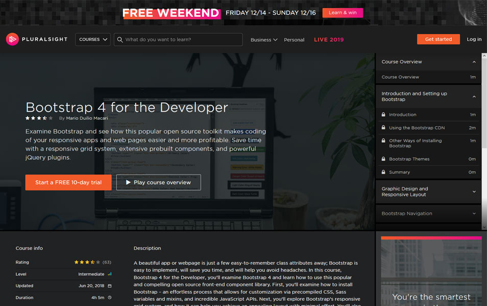Bootstrap 4 for the Developer | Pluralsight