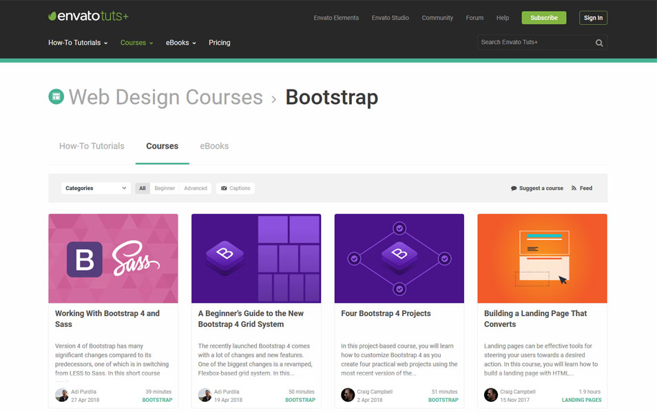 Bootstrap Courses by Envato Tuts+