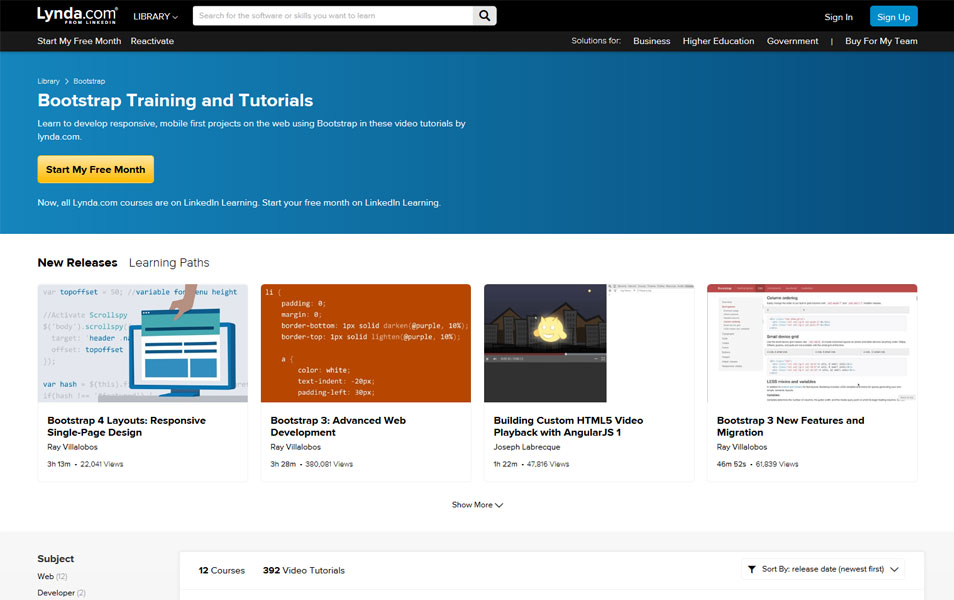 Bootstrap Training and Tutorials | Lynda