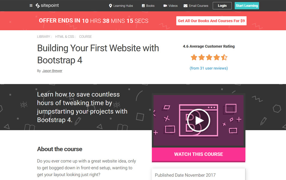 Building Your First Website with Bootstrap 4 | SitePoint