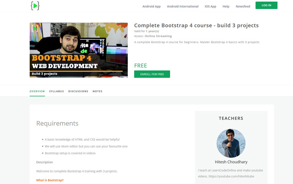 Complete Bootstrap 4 Course | LearnCodeOnline