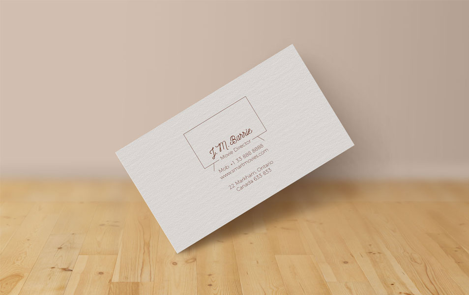 Extremely Simple Free Business Card Design & Mock-up PSD