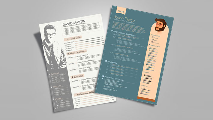 free a4 resume  u0026 flyer mock