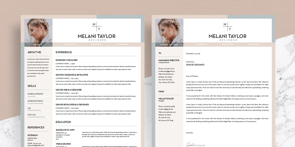 Free CV-Resume Template With Cover Letter