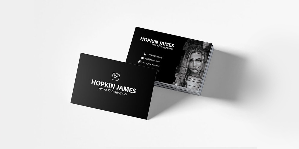 Free Corporate Photography Business Card Template PSD