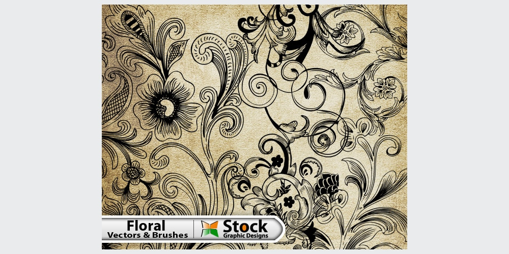 Free Floral Vector & Brush Pack