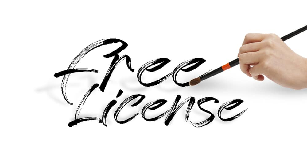 Free License Font