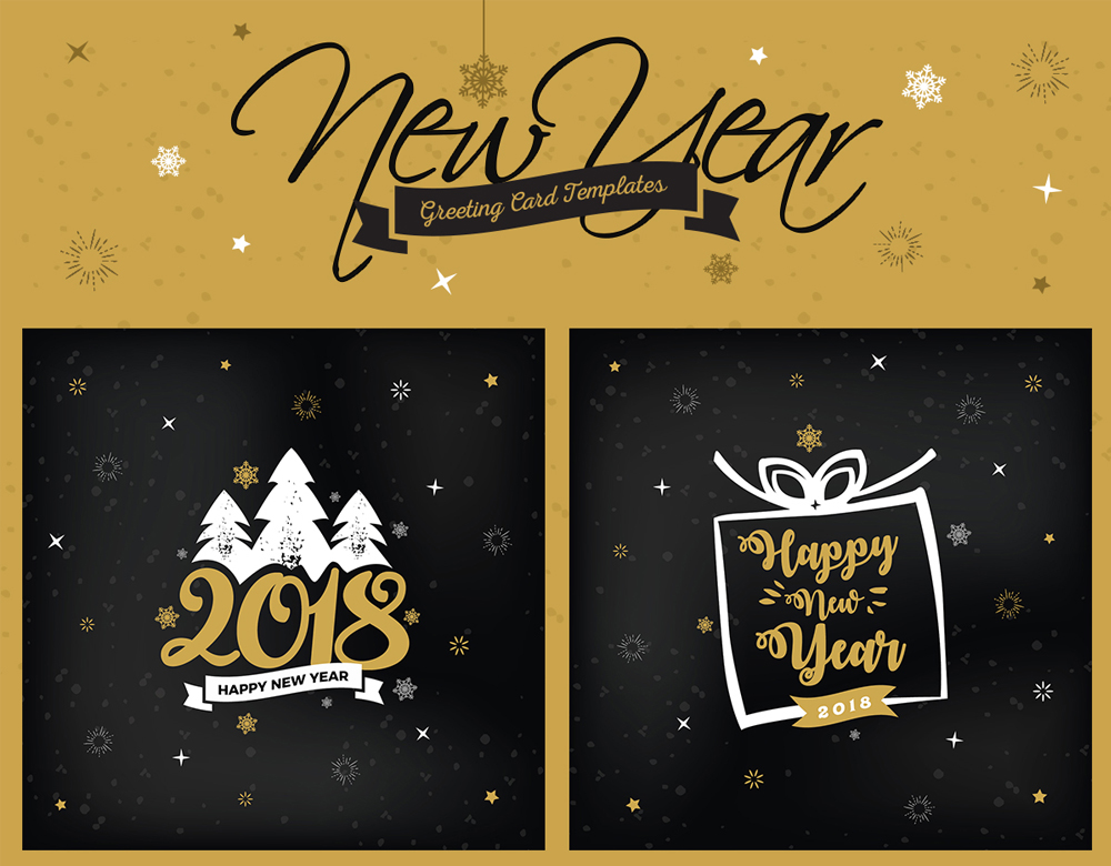 Free New Year Greeting Card Templates