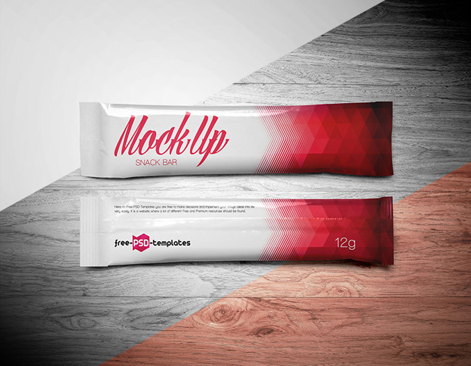 Free Snack Bar Mock-up in PSD