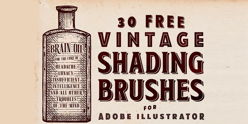 Free Vintage Shading Brushes for Adobe Illustrator