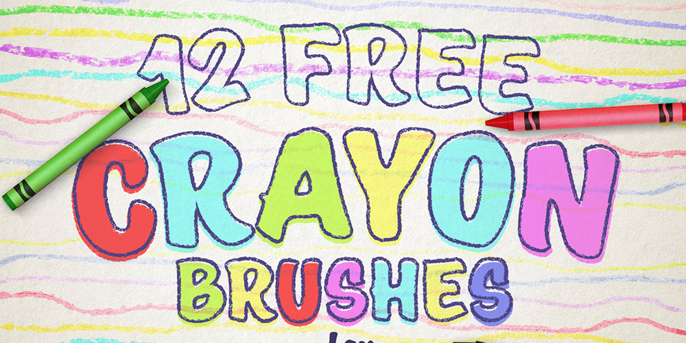 Free Wax Crayon Effect Brushes