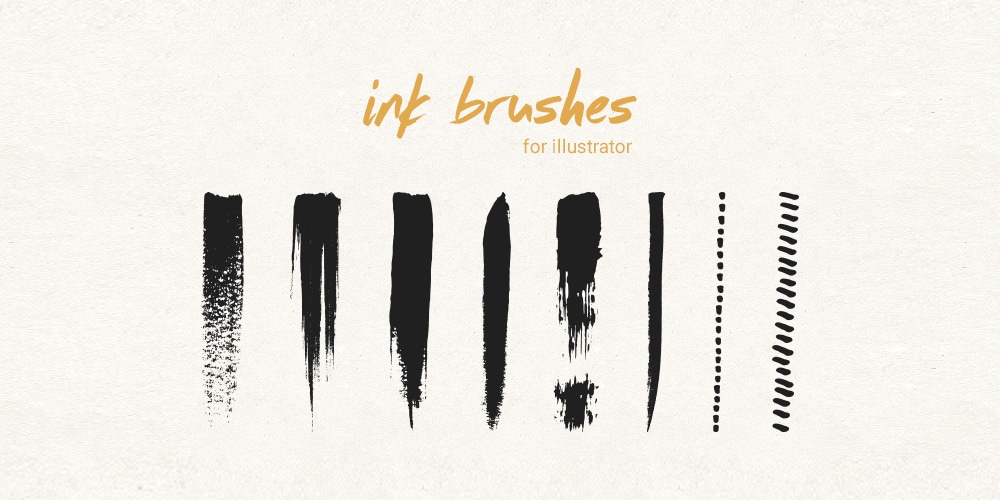 Ink & Pen Brushes For Illustrator