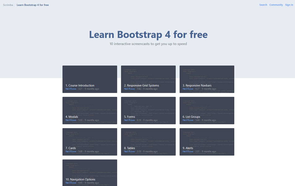 Learn Bootstrap 4 for free | Scrimba